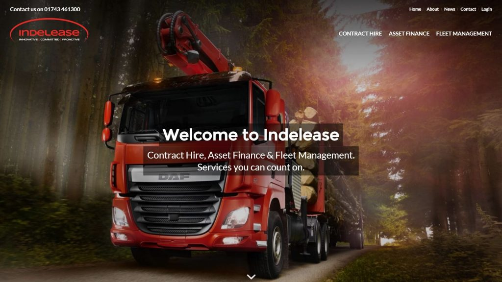 Indelease Home Page